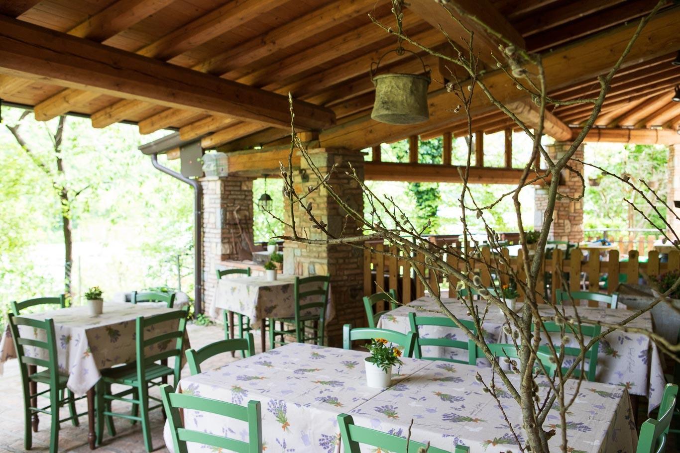 Il nostro ristorante biologico per i clienti dell'agriturismo. Azienda agricola biologica BIOBIO'.
